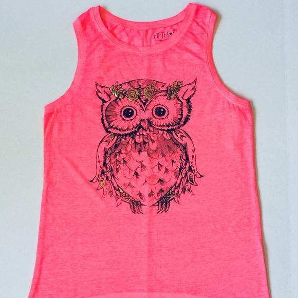 3392dc6c0a4 Fifth Sun Women s Owl Tank